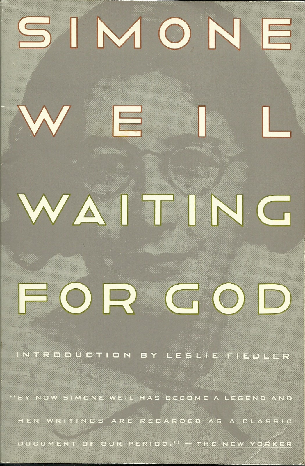 Book cover of Waiting for God by Simone Weil
