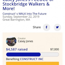 The First Congregational Church of Stockbridge raised over $4,500 for Construct
