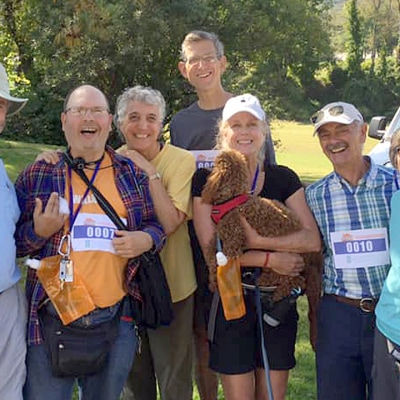 The First Congregational Church of Stockbridge's Construct Walk team smiles for the camera