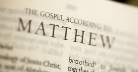 Text from the Gospel of Matthew