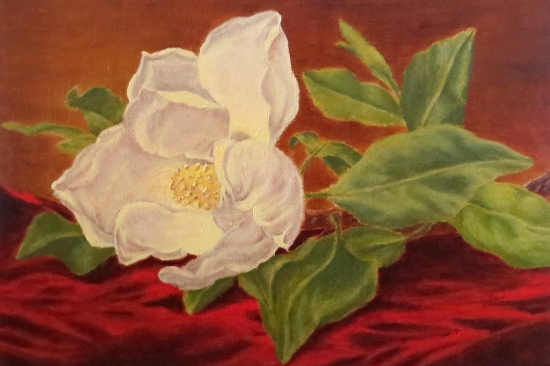 Painting of a peony