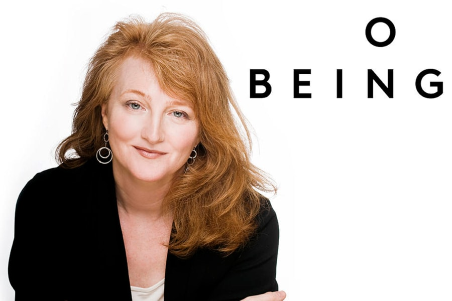 Image of Krista Tippett with the words