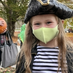 A girl dressed as a pirate
